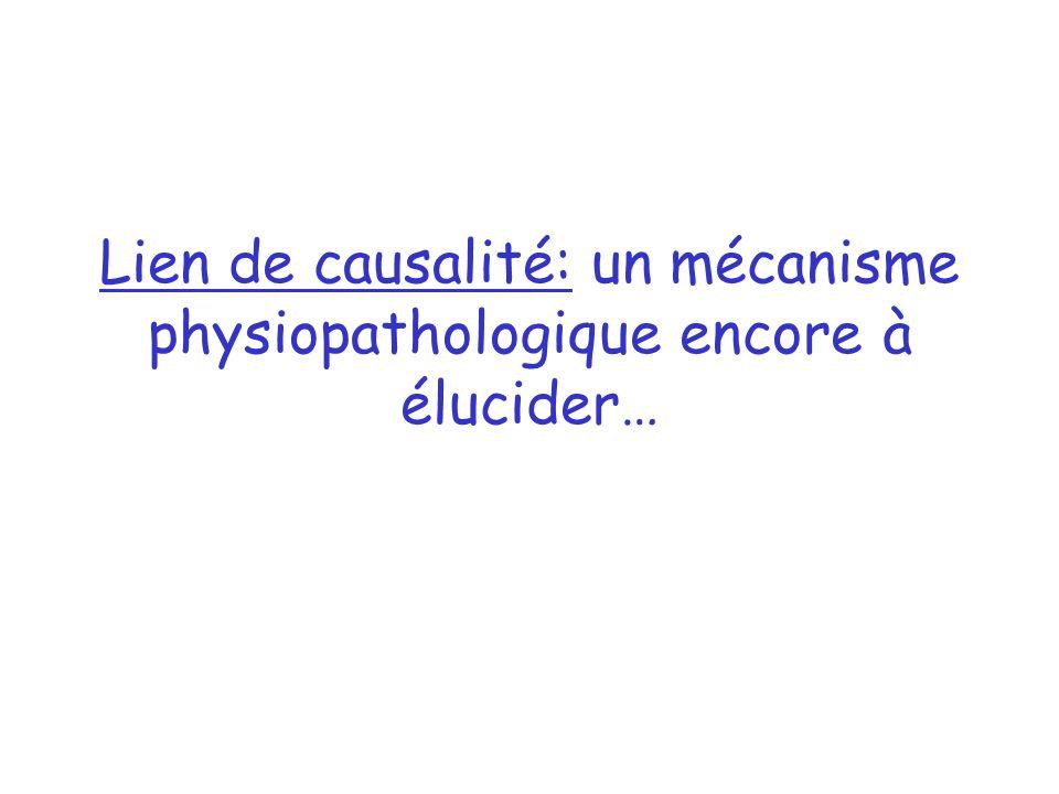Lien de causalité: un mécanisme physiopathologique encore à élucider…