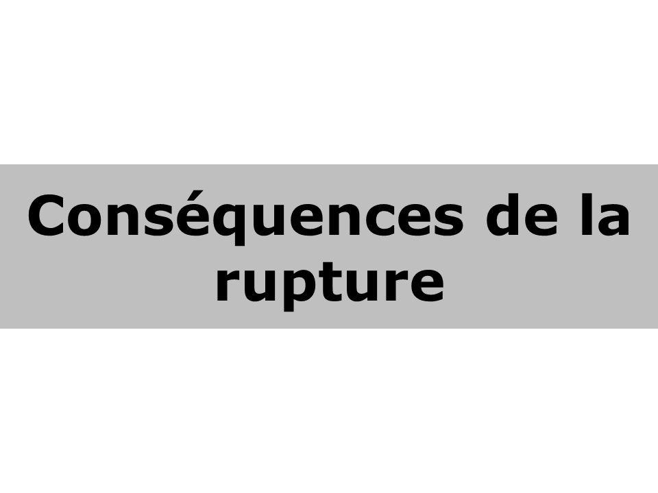 Conséquences de la rupture