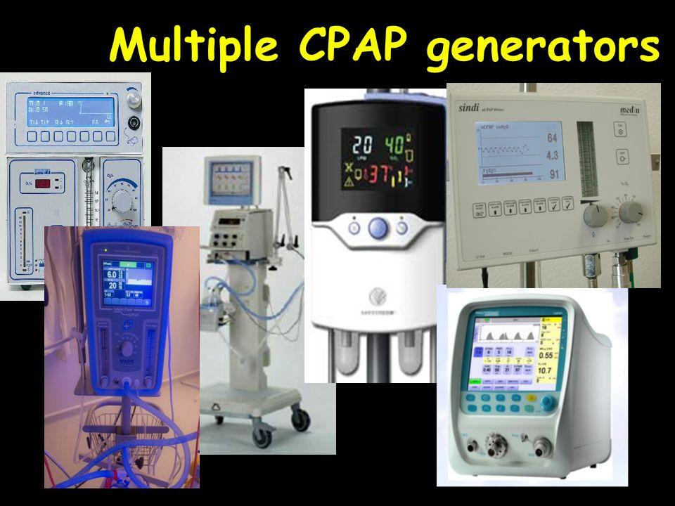 40 Multiple CPAP generators