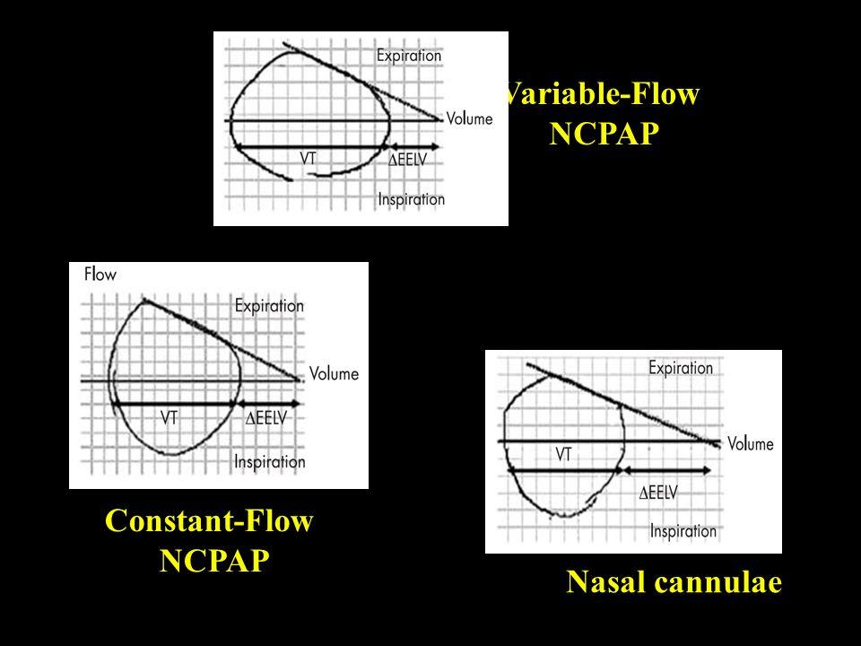 Variable-Flow NCPAP Constant-Flow NCPAP Nasal cannulae