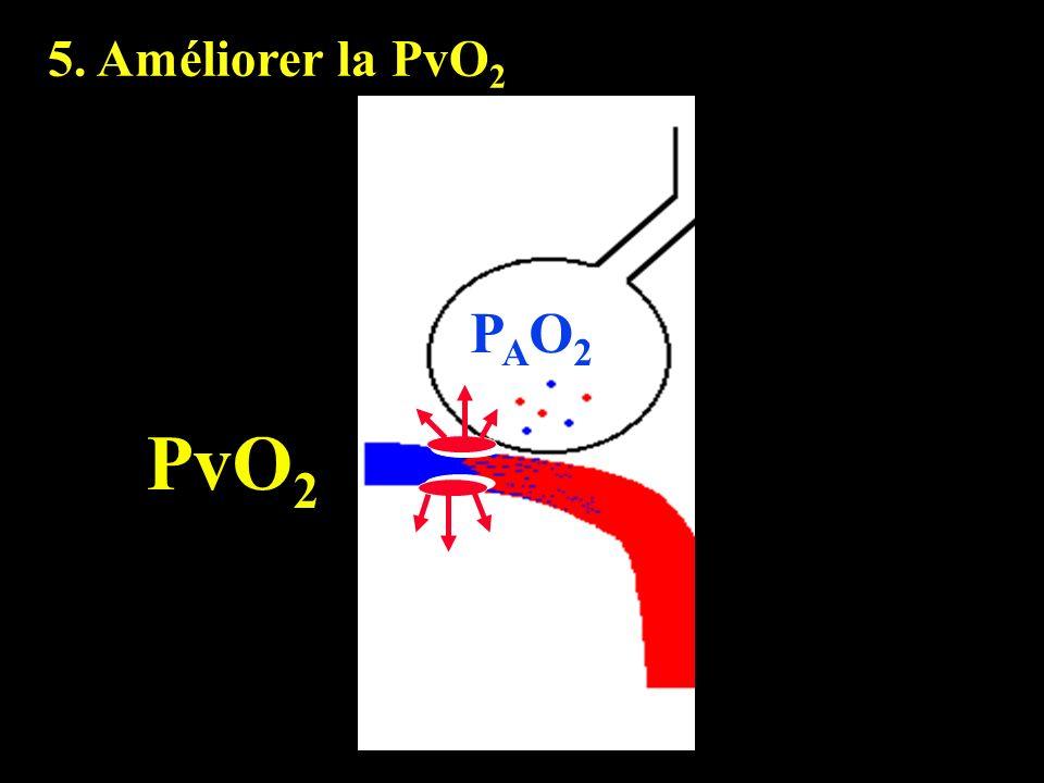 PAO2PAO2 PvO 2 5. Améliorer la PvO 2
