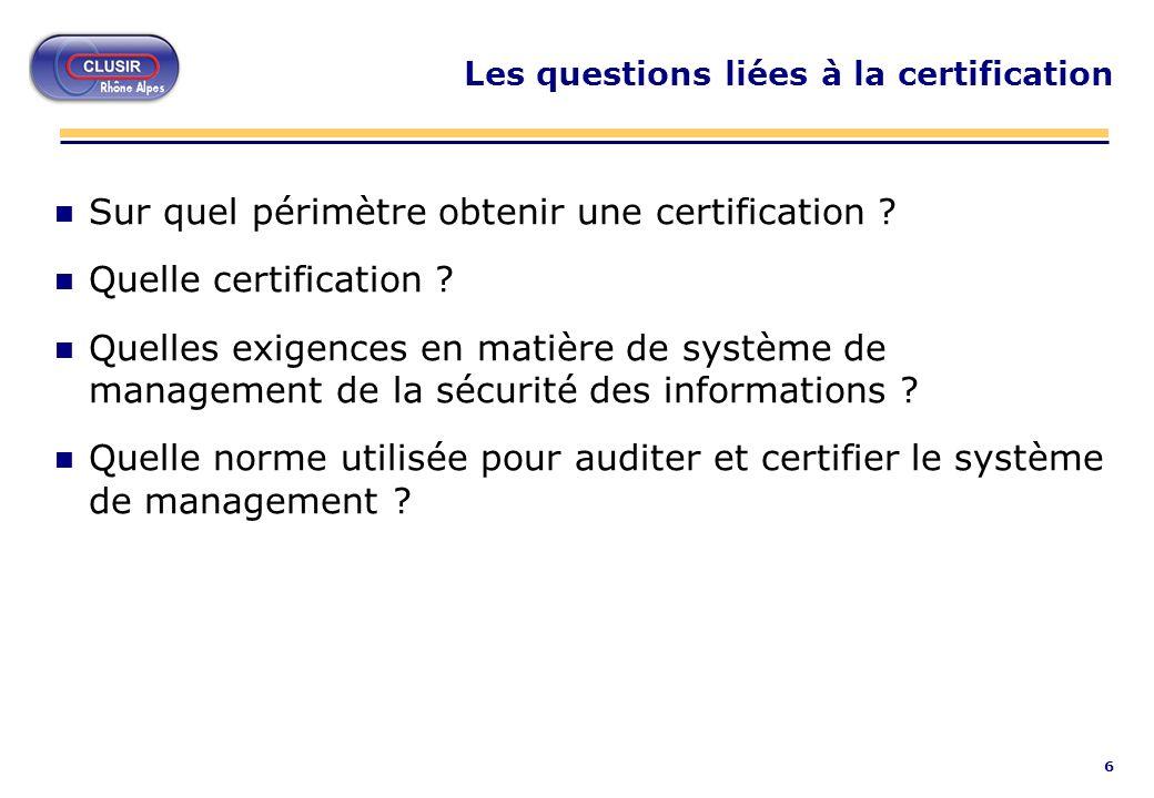 7 Normes et méthodes pour un langage commun L abondance de normes et de méthodes est souvent source de confusion Etude 2002 du CIGREF (Club Informatique des Grandes Entreprises Françaises) sur la sécurité des systèmes d information