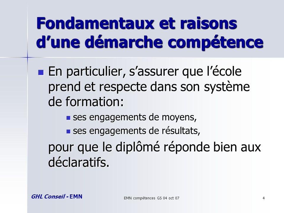 GHL Conseil - EMN EMN compétences GS 04 oct 0725 Référentiel CB Proposition de référentiel cycle de base amendé/validé avec les responsables dUV en juin 06.