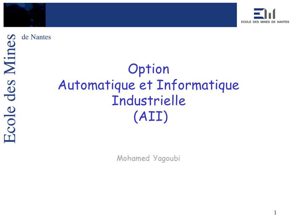 1 Option Automatique et Informatique Industrielle (AII) Mohamed Yagoubi