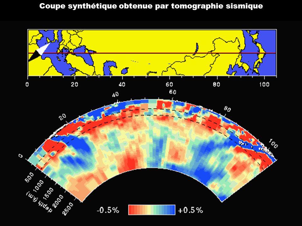 Survolez l'image et cliquez ! Coupe synthétique obtenue par tomographie sismique