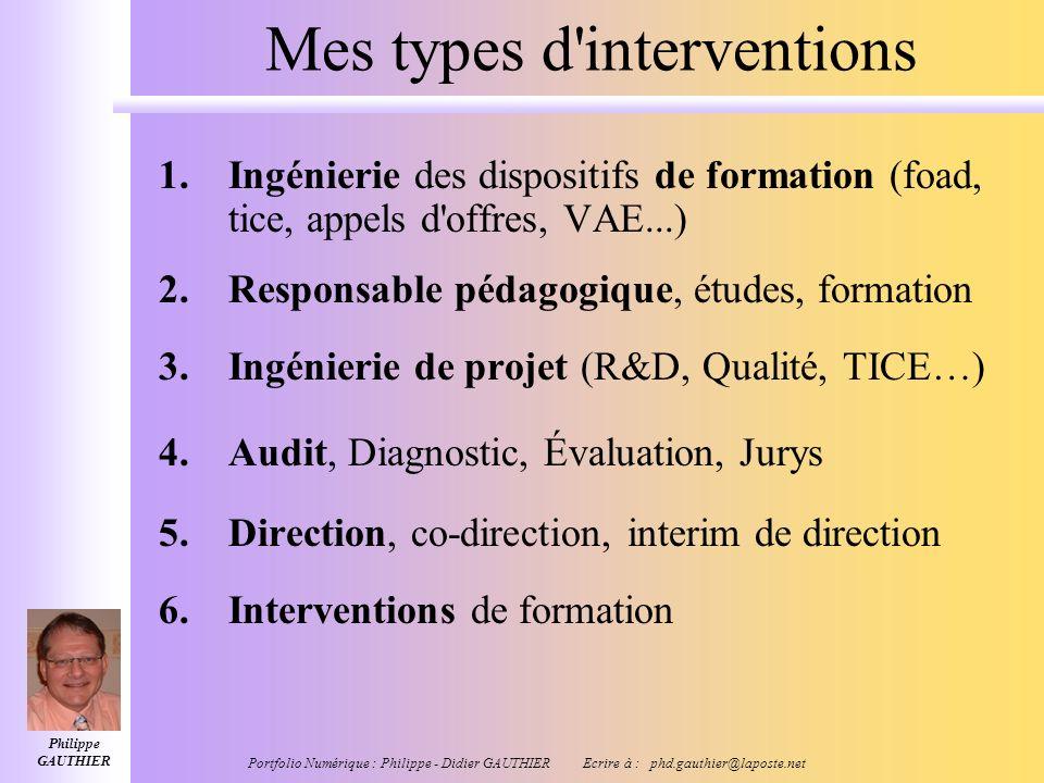 Philippe GAUTHIER Portfolio Numérique : Philippe - Didier GAUTHIER Ecrire à : phd.gauthier@laposte.net « Stratégies dintervention » Coordination, Coop