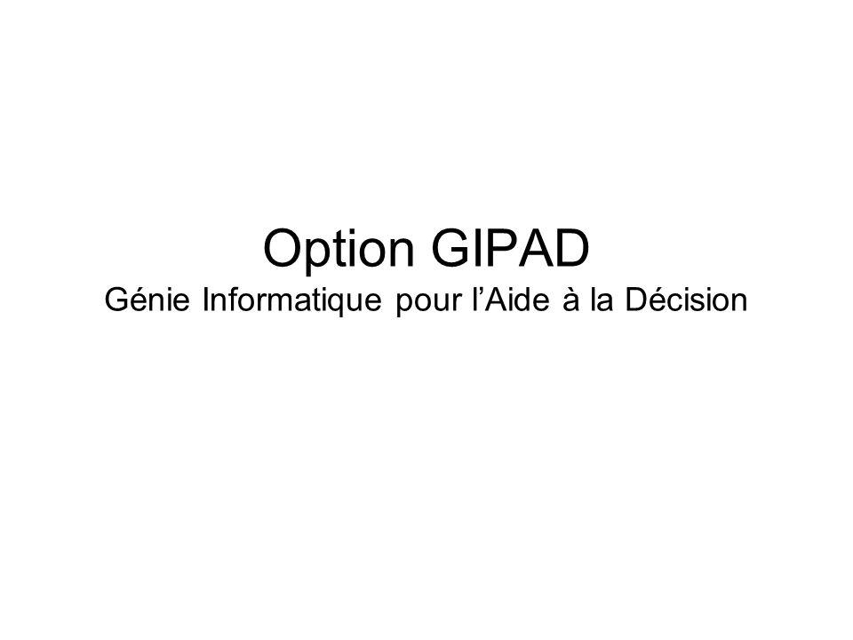 Option GIPAD Génie Informatique pour lAide à la Décision