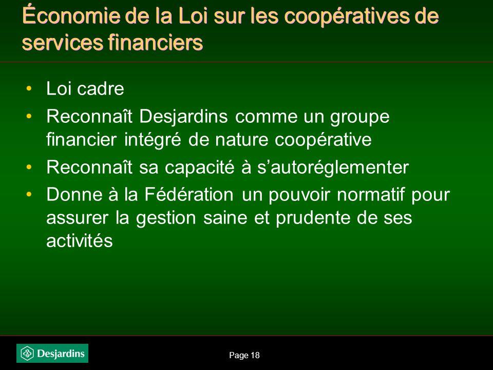 Page 17 mécanismes mis en place : création de mécanismes de coordination Mouvement: comité de direction stratégique Mouvement comité gestion des risqu