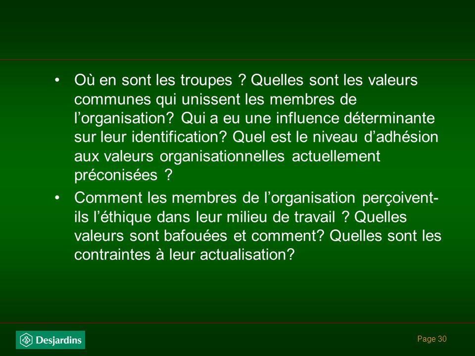 Page 29 Comment promouvoir le leadership éthique.
