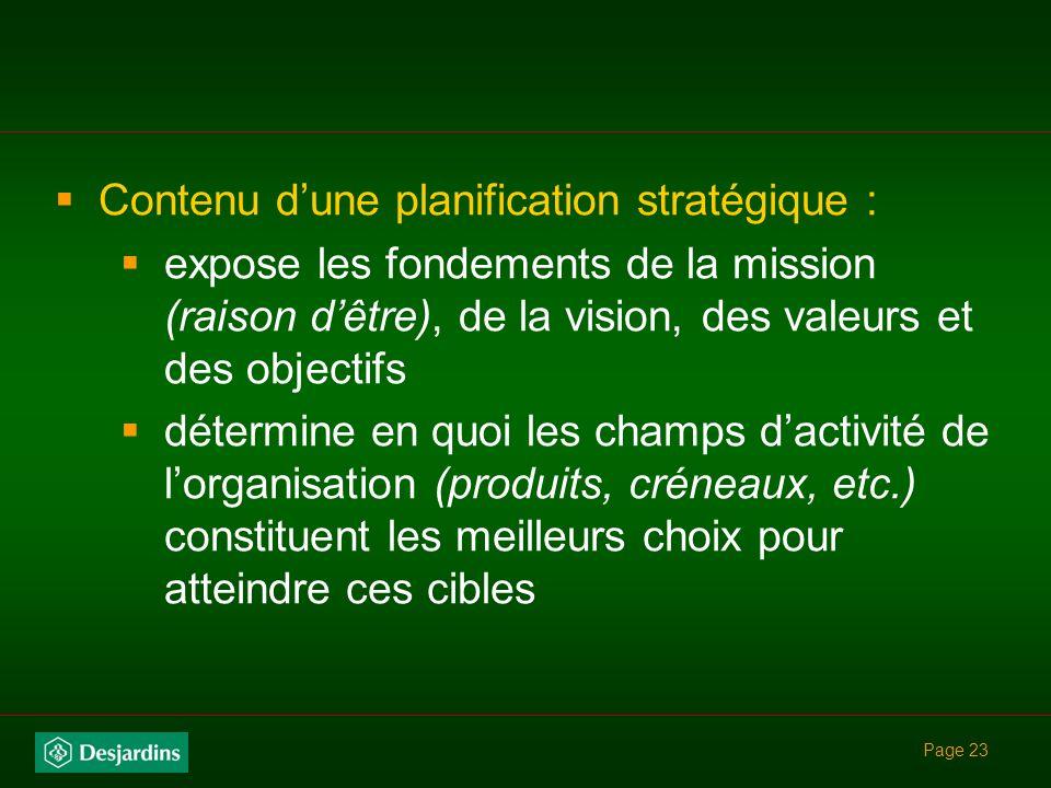 Page 22 permet aux parties prenantes de mieux comprendre les objectifs stratégiques canalise lengagement intellectuel et émotif des parties prenantes