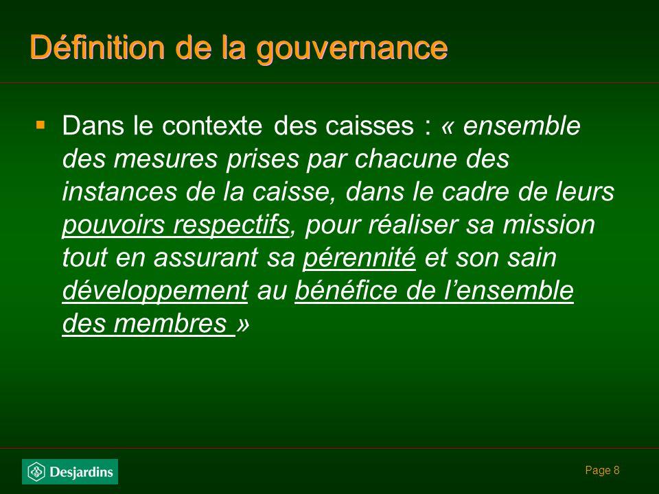 Page 48 mandat de ce comité : suivre la mise en œuvre de la politique de gouvernance recevoir le rapport du vérificateur annuellement et recommandation au CA au besoin réviser les mandats des commissions du CA au besoin