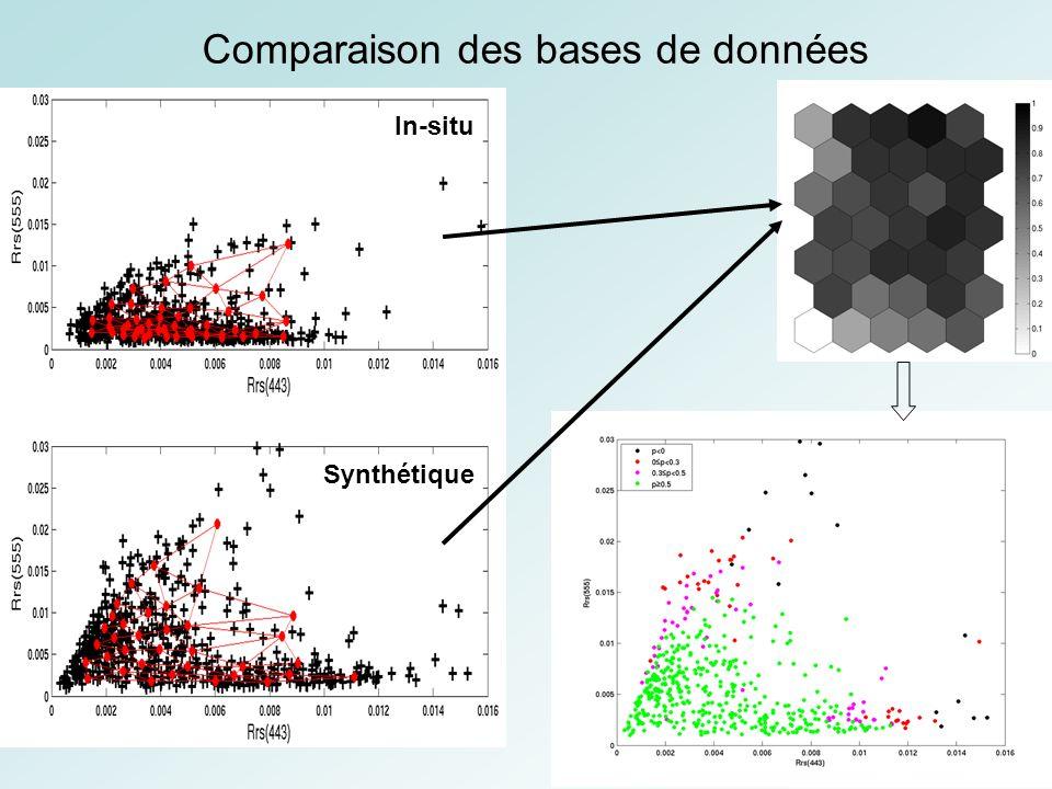 chl-a b0b0 b0b0 mimi i RN RN RN A w t x + cor simulé cor mesuré mimi i Modèle adjoint J Erreurs sur les mesures Connaissances a priori sur les paramètres Connaissances expertes du processus physique Appris avec les bases synthétiques Bases de données Des observations
