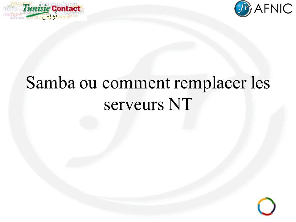 Samba ou comment remplacer les serveurs NT