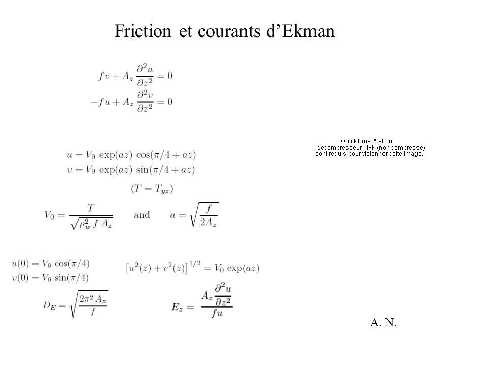 Friction et courants dEkman A. N.