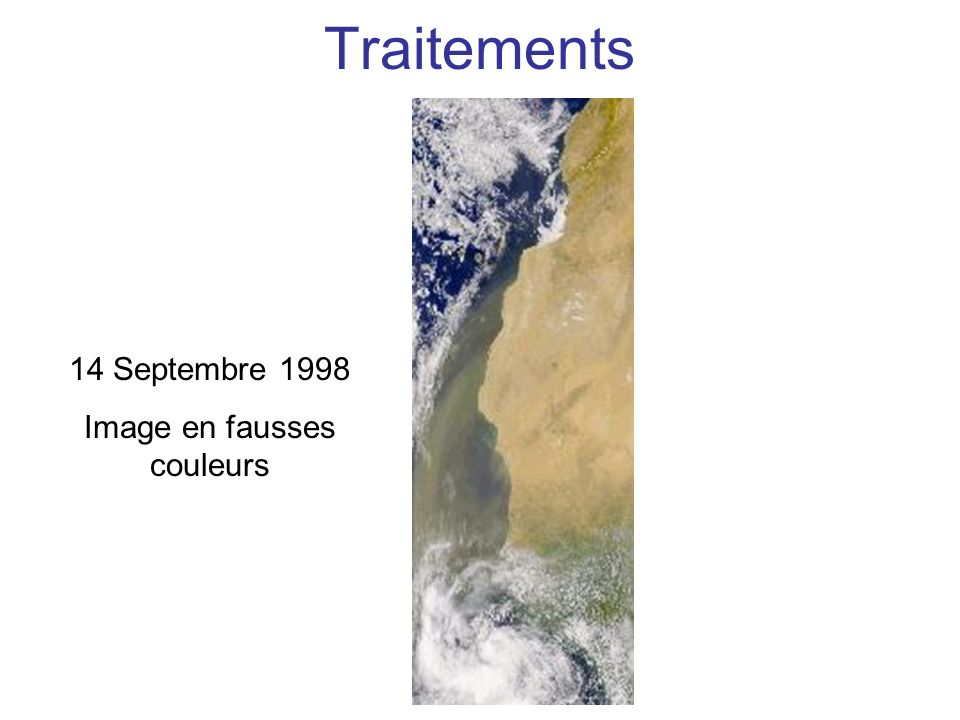 Traitements SeaWiFS – 14 Septembre 1998 chl-a