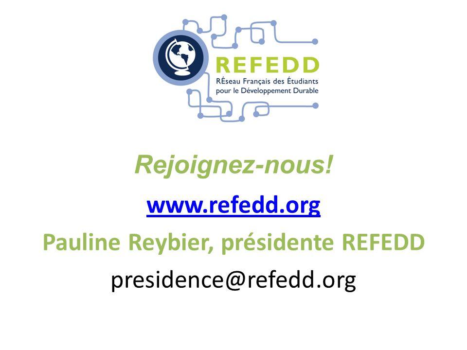 www.refedd.org Pauline Reybier, présidente REFEDD presidence@refedd.org Rejoignez-nous!
