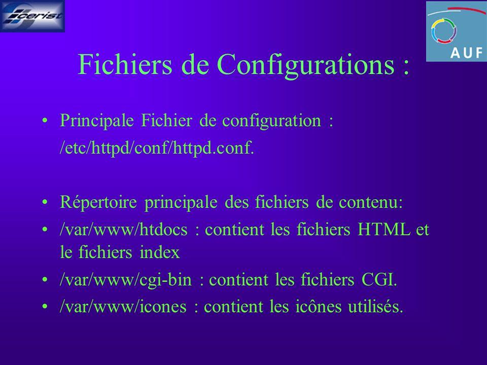 HTTPD.CONF ServerTypestandalone apache se lance dune manière autonome.