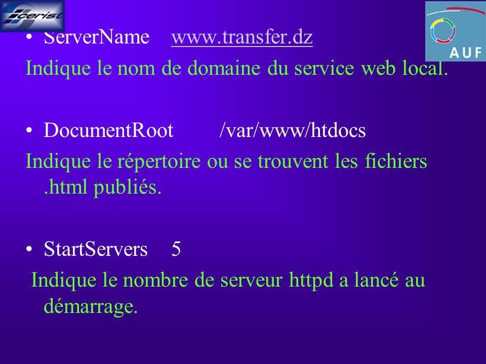 ServerNamewww.transfer.dzwww.transfer.dz Indique le nom de domaine du service web local.