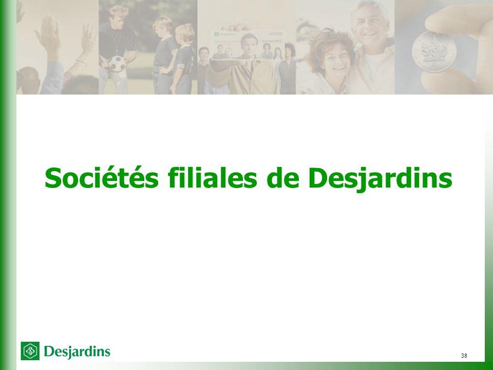 38 Sociétés filiales de Desjardins