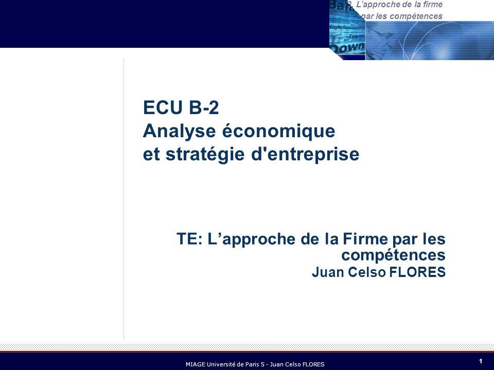 22 MIAGE Université de Paris 5 - Juan Celso FLORES 3.