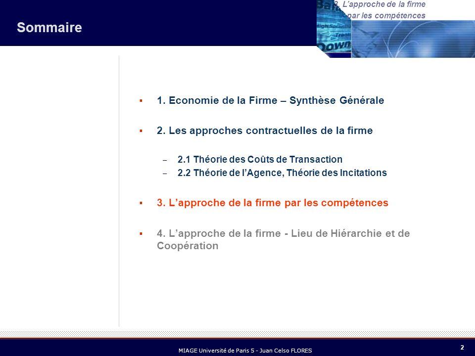 13 MIAGE Université de Paris 5 - Juan Celso FLORES 3.