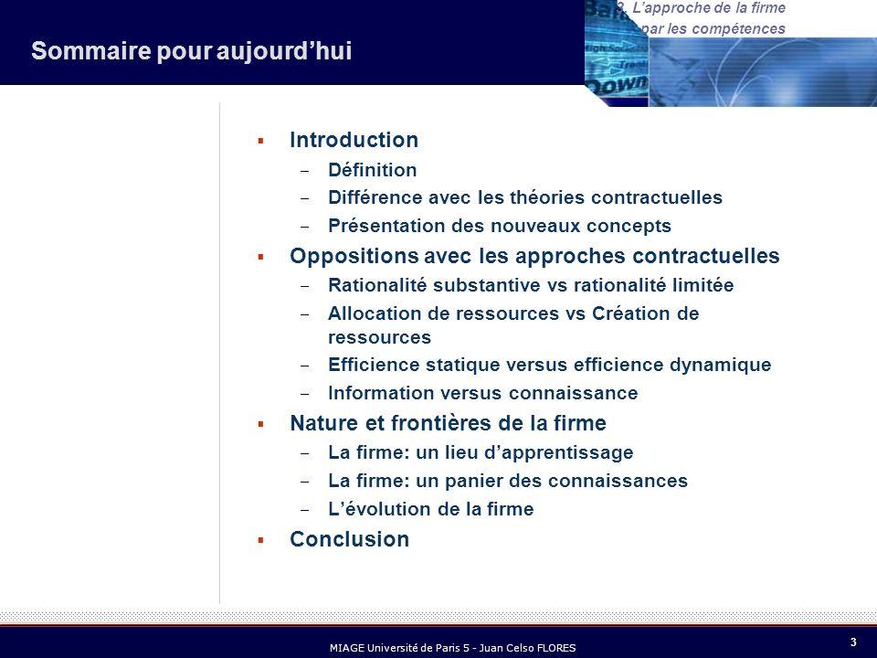 14 MIAGE Université de Paris 5 - Juan Celso FLORES 3.