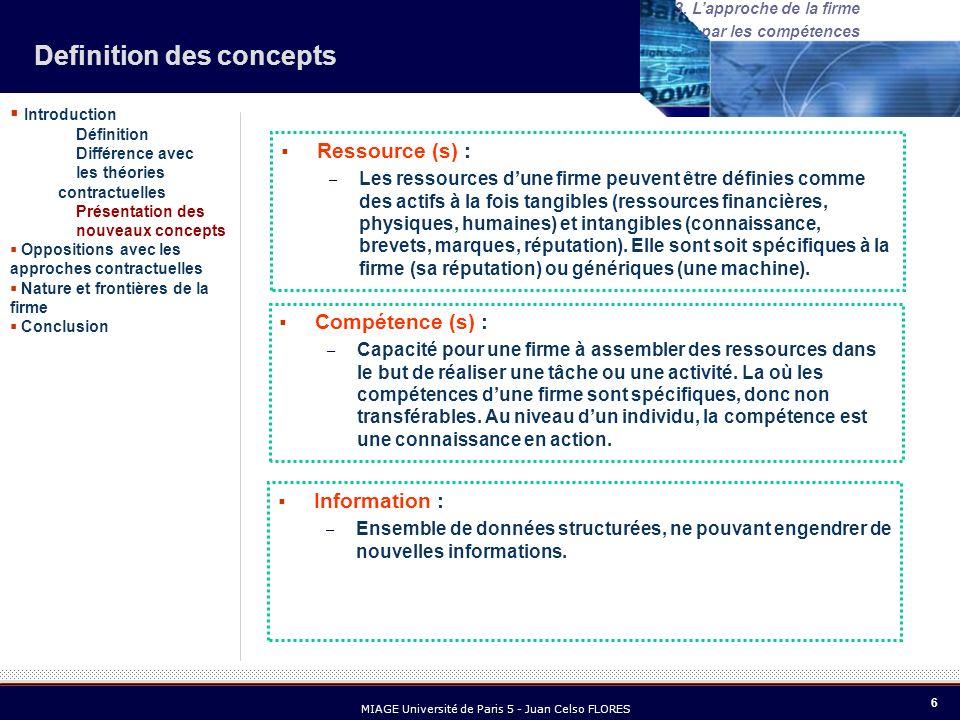 7 MIAGE Université de Paris 5 - Juan Celso FLORES 3.