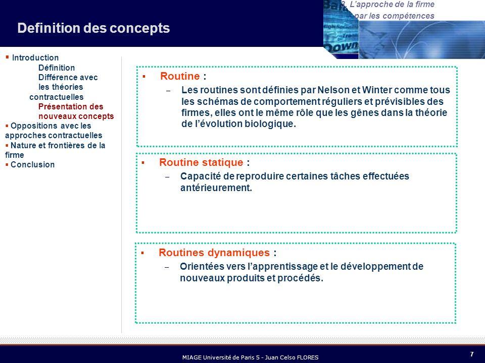 18 MIAGE Université de Paris 5 - Juan Celso FLORES 3.