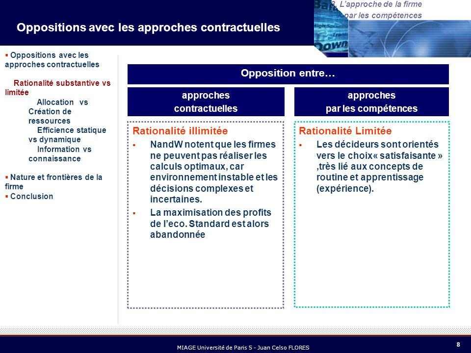 9 MIAGE Université de Paris 5 - Juan Celso FLORES 3.
