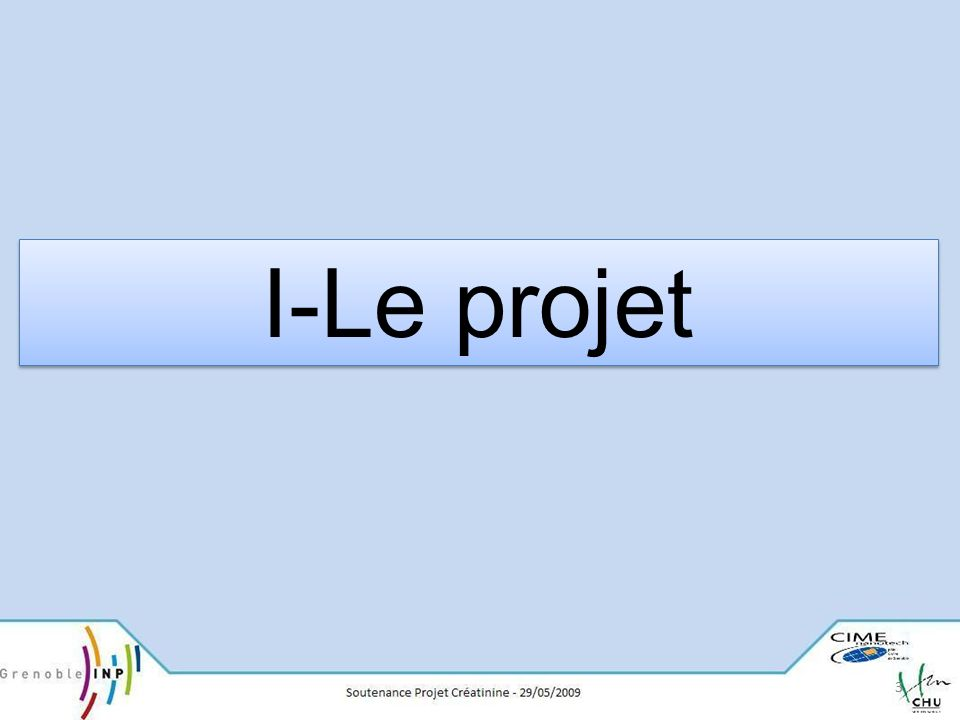 33 I-Le projet