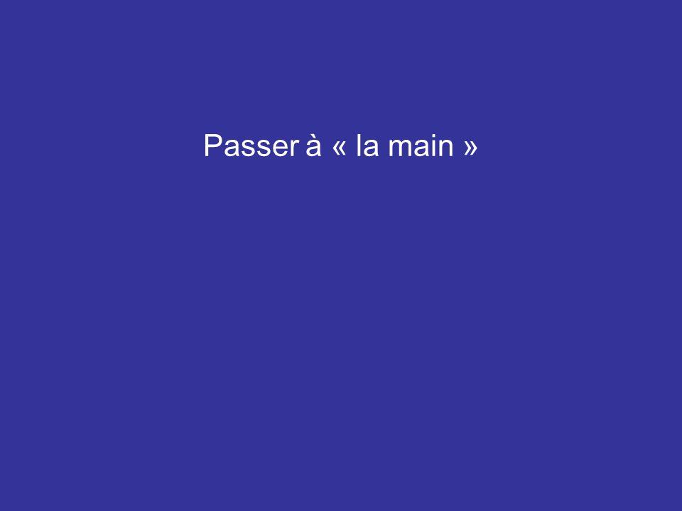 Passer à « la main »