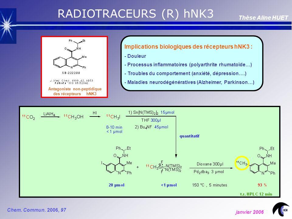 RADIOTRACEURS (R) hNK3 Chem.Commun.