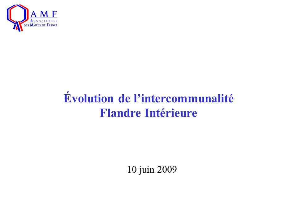 10 juin 2009 Évolution de lintercommunalité Flandre Intérieure