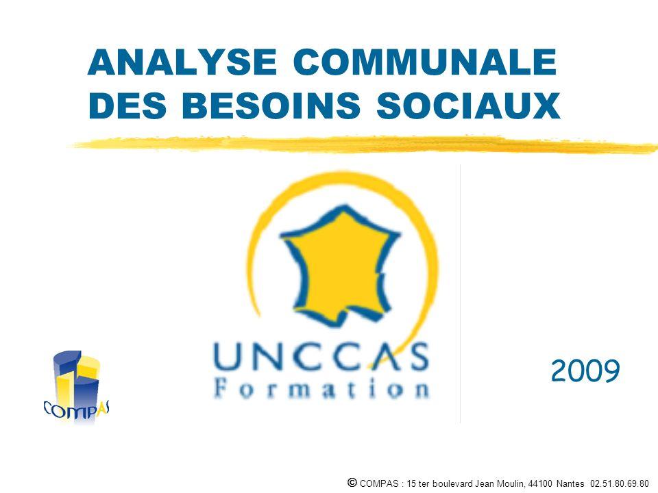 COMPAS : 15 ter boulevard Jean Moulin, 44100 Nantes 02.51.80.69.80 ANALYSE COMMUNALE DES BESOINS SOCIAUX 2009