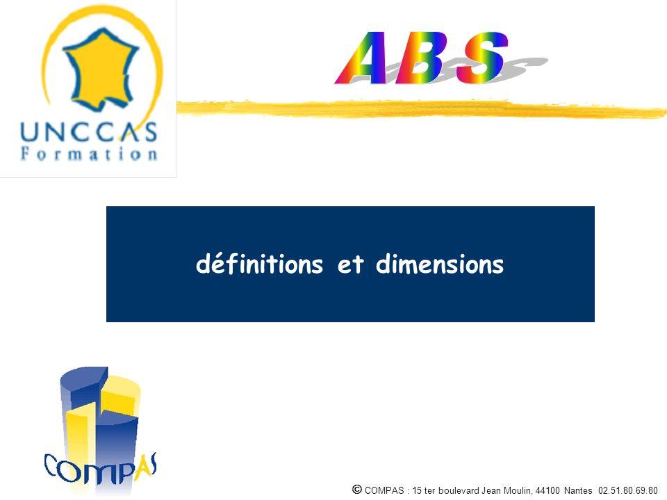COMPAS : 15 ter boulevard Jean Moulin, 44100 Nantes 02.51.80.69.80 1 2 3 définitions et dimensions