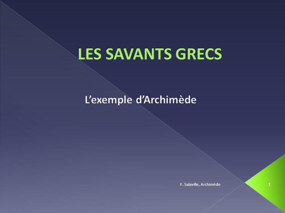 F. Salaville, Archimède 12 Comment Archimède a-t-il procédé?