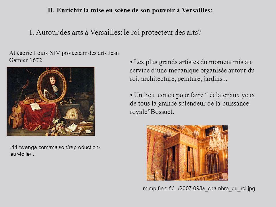 II. Enrichir la mise en scène de son pouvoir à Versailles: 1. Autour des arts à Versailles: le roi protecteur des arts? Allégorie Louis XIV protecteur