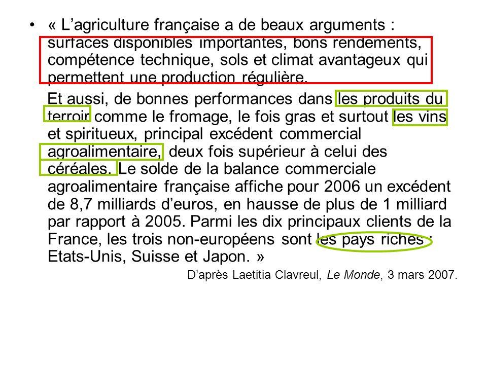 « Lagriculture française a de beaux arguments : surfaces disponibles importantes, bons rendements, compétence technique, sols et climat avantageux qui