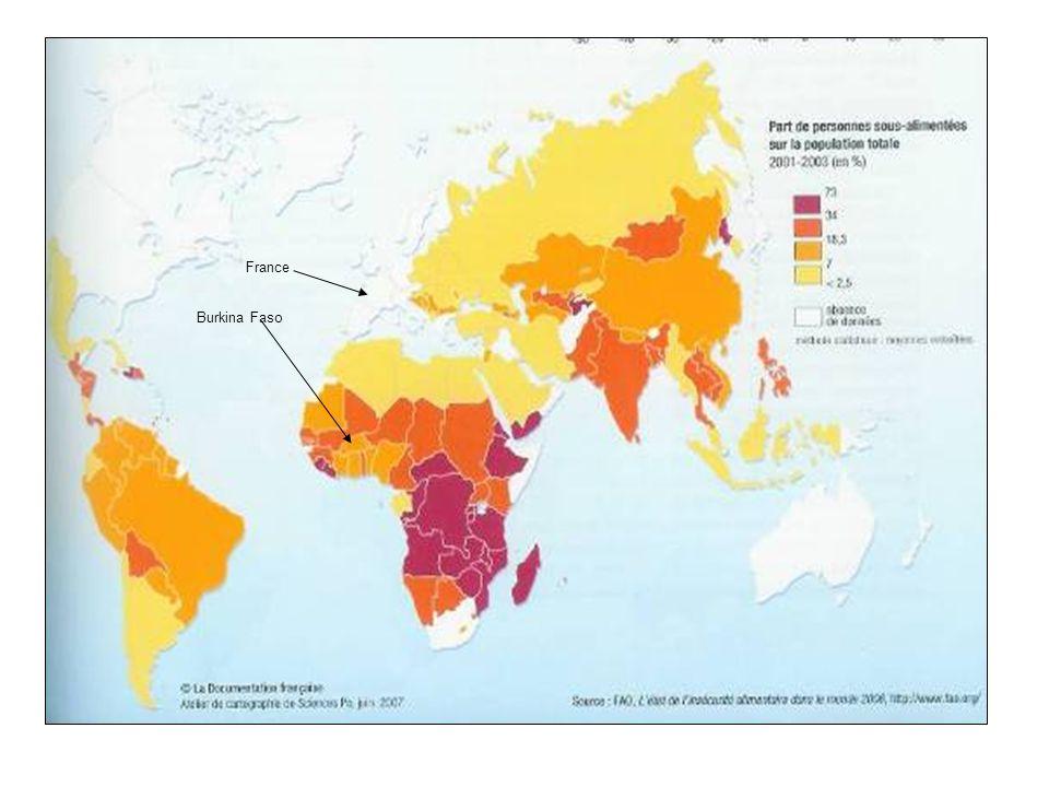 Séance 2 (1h) Les facteurs dexplication Objectifs : Comment expliquer cette différence de situation alimentaire entre les deux pays .