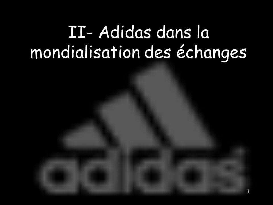 1 II- Adidas dans la mondialisation des échanges