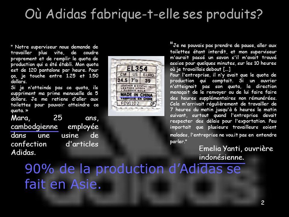 2 Où Adidas fabrique-t-elle ses produits.