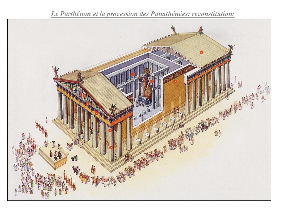 Le Parthénon et la procession des Panathénées: reconstitution: