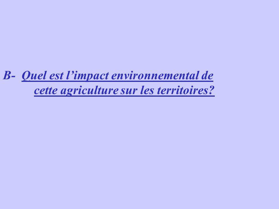 B- Quel est limpact environnemental de cette agriculture sur les territoires?