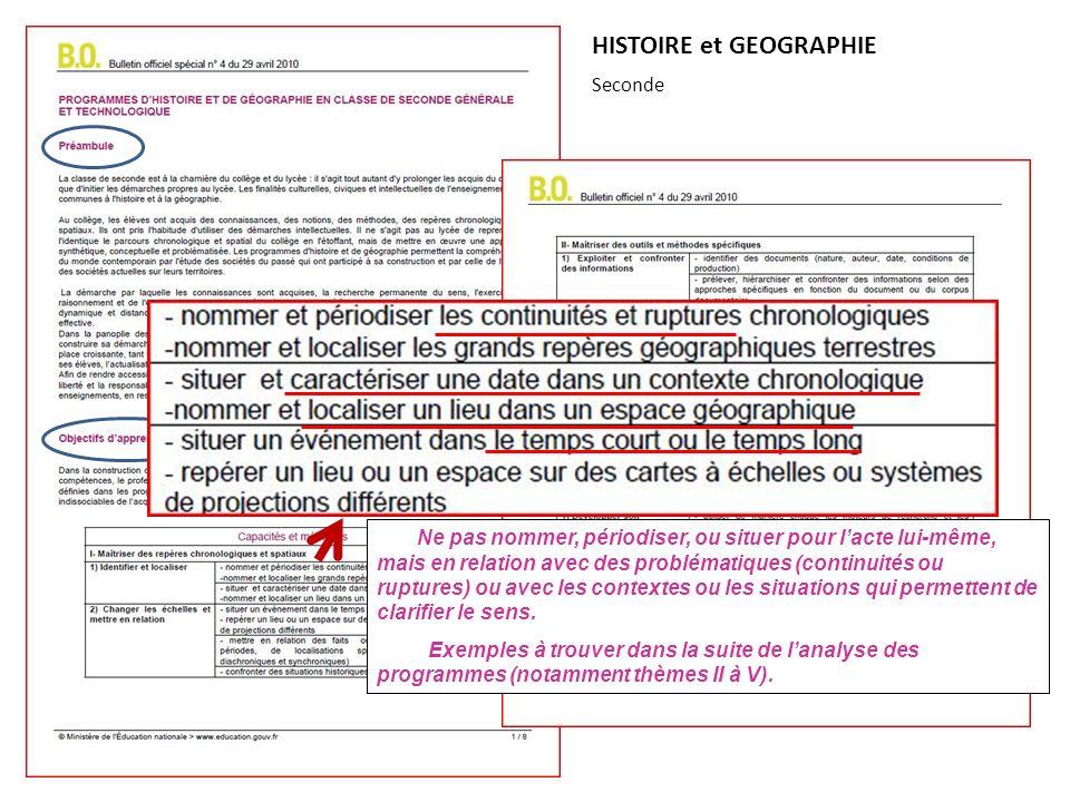 HISTOIRE et GEOGRAPHIE Seconde 2 ou 3 H +1 ou 2 H : 1 ou 2 évaluation(s)
