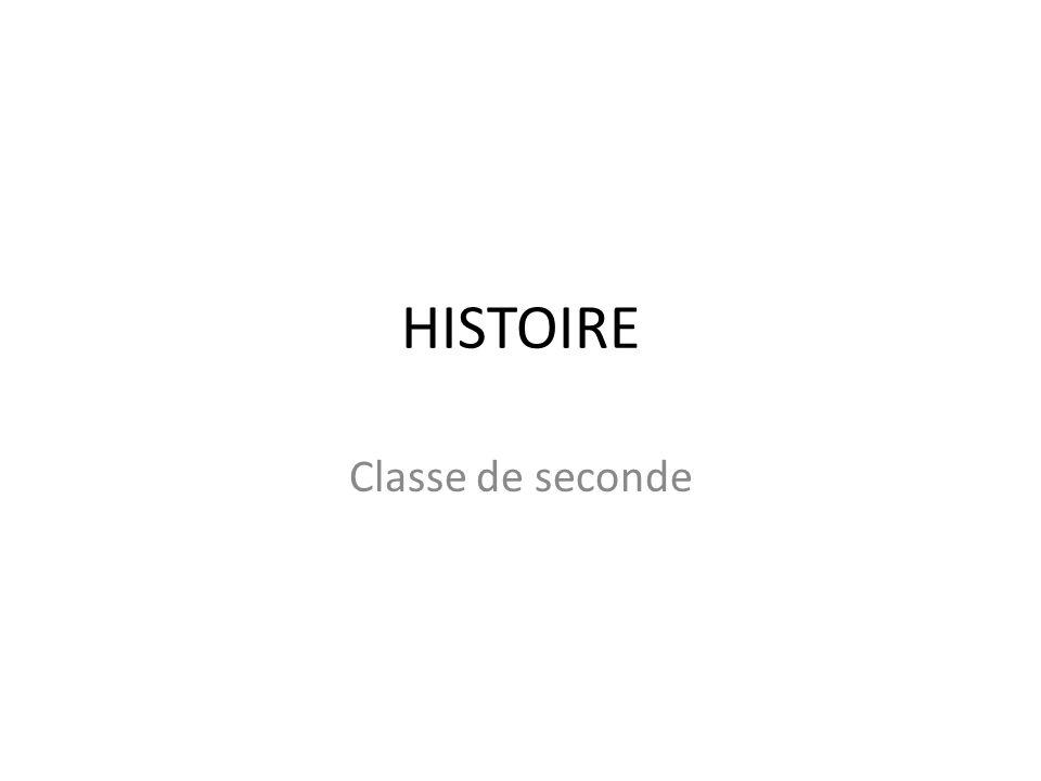 HISTOIRE Classe de seconde 3 heures hebdomadaires x 33 semaines 99 h = = 49 h 46 h Histoire et géographie 2 Une marge étroite… = tenir ferme le déroulement…