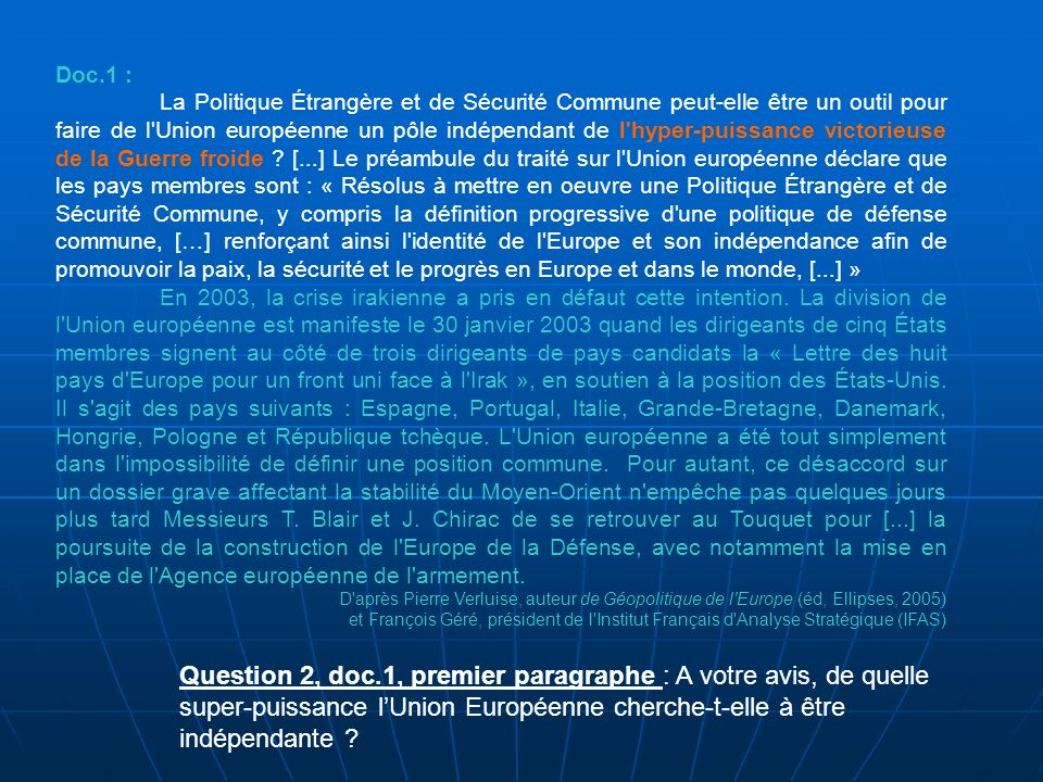 La répartition des effectifs de lEurocorps selon les États membres