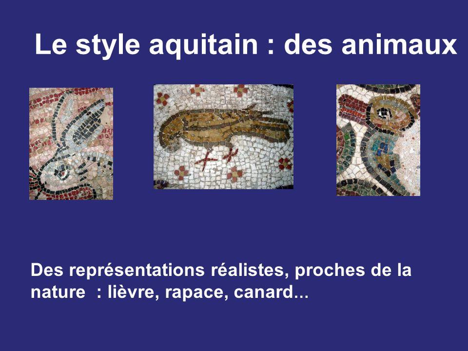 Le style aquitain : des animaux Des représentations réalistes, proches de la nature : lièvre, rapace, canard …
