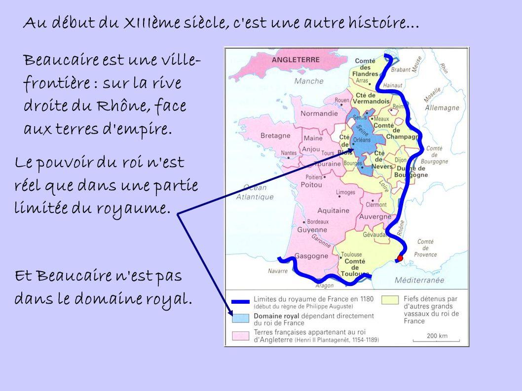 Au final, on voit que le roi de France augmente l étendue de son pouvoir de plusieurs manières : Par la guerre et les conquêtes : ici, les terres orientales du comté de Toulouse (et Beaucaire donc) sont les fruits d une campagne militaire victorieuse.