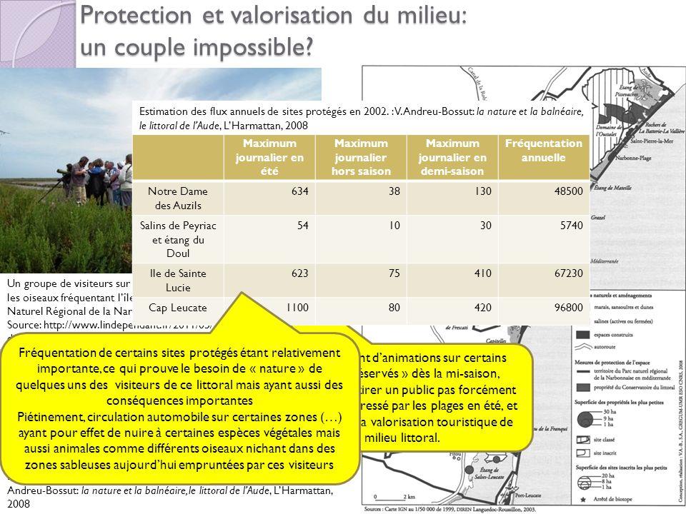 Protection et valorisation du milieu: un couple impossible? La mise en protection des espaces « naturels »,du Narbonnais source: V. Andreu-Bossut: la