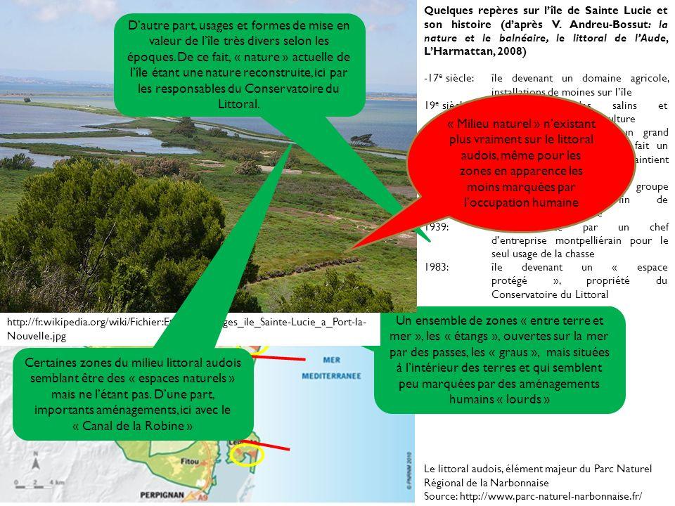 Un milieu, des usages multiples Le littoral audois, élément majeur du Parc Naturel Régional de la Narbonnaise Source: http://www.parc-naturel-narbonna